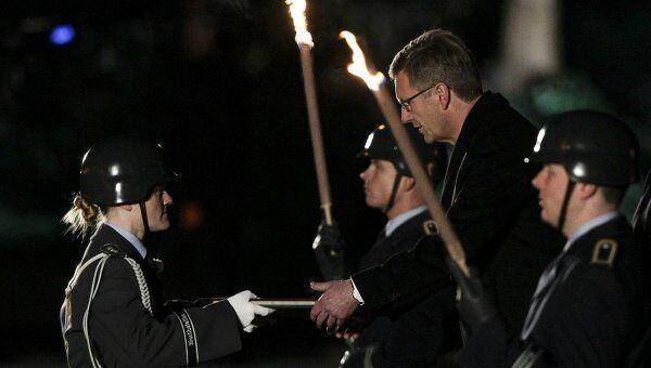 Церемония прощания экс-президента ФРГ Вульфа с должностью