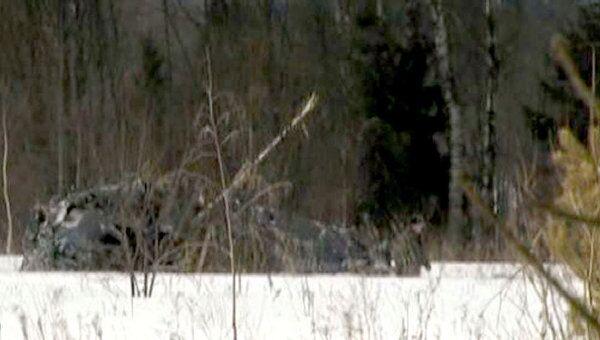 Ка-52 Аллигатор разбился в Тверской области. Кадры с места крушения