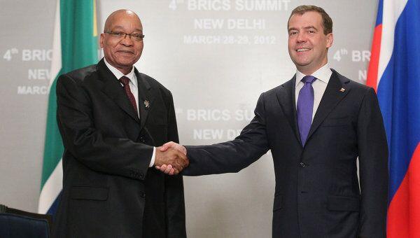 Встреча Д.Медведева и Д.Зумы в Нью-Дели