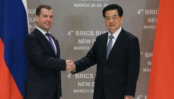 Встреча Д.Медведева и Х. Цзиньтао