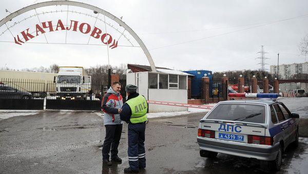 Последствия пожара на Качаловском рынке в Москве