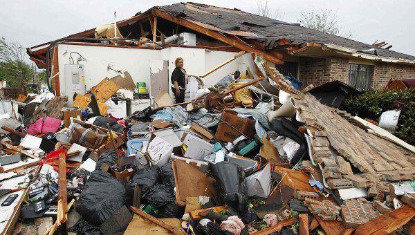Обрушившиеся на американский штат Техас сильные торнадо