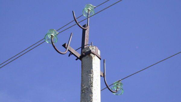 Опора линии электропередач. Архивное фото