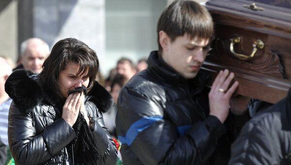 Похороны погибших в авиакатастрофе под Тюменью