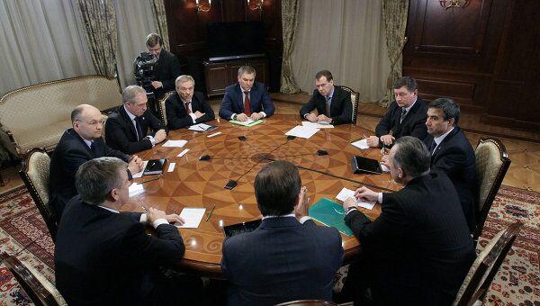 Встреча Д.Медведева с представителями регионов