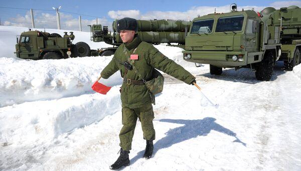 Боевое дежурство ЗРК С-400 Триумф. Архивное фото