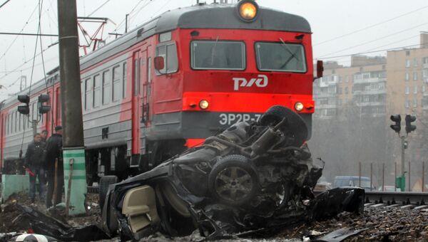 ДТП на железнодорожных путях в Одинцово
