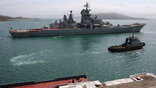 Тяжелый атомный ракетный крейсер Петр Великий . Архив