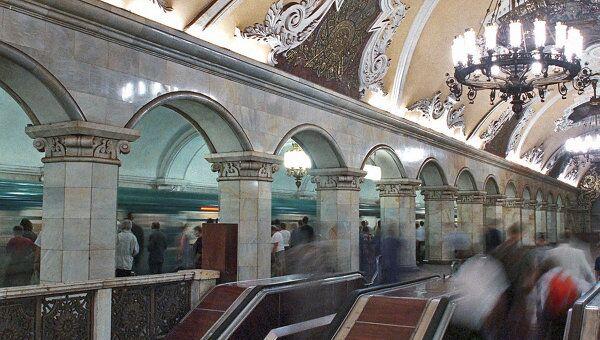 На станции метро Комсомольская-кольцевая в Москве