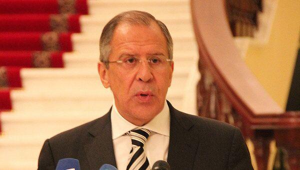 Сергей Лавров на пресс-конференции. Архив