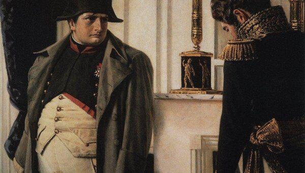 Наполеон и маршал Лористон