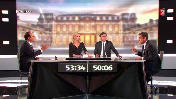 Дебаты Франсуа Олланда и Николя Саркози