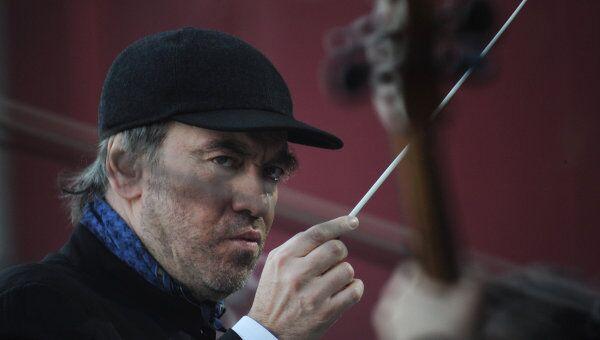 Дирижер Валерий Гергиев во время концерта в честь Дня Победы