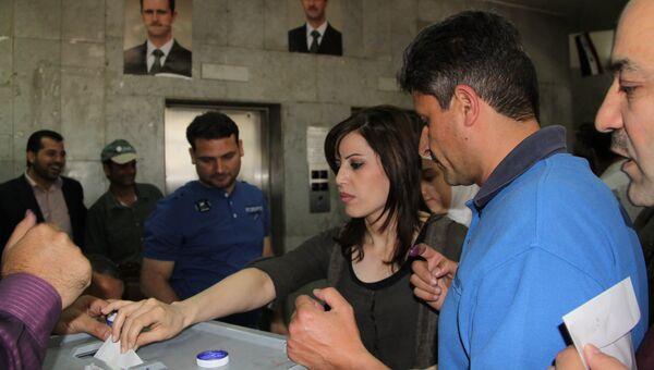 Голосование на выборах в Сирии. Архивное фото