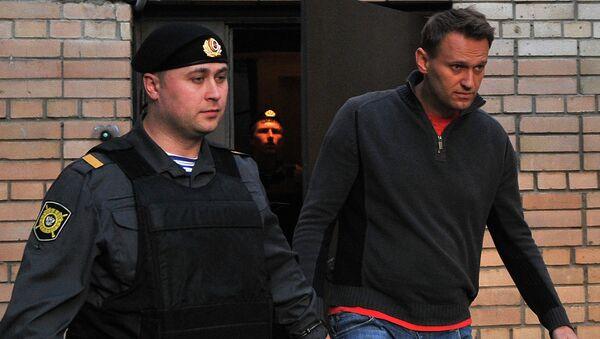 Алексей Навальный у Пресненского суда Москвы