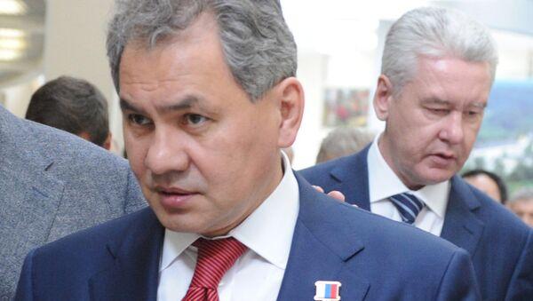 Губернатор Московской области Сергей Шойгу после торжественной церемонии инаугурации
