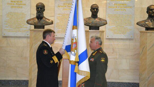 Николай Макаров вручил вице-адмиралу Виктору Чиркову Штандарт Главнокомандующего ВМФ