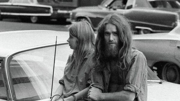 Хиппи на улице Нью-Йорка. 1970