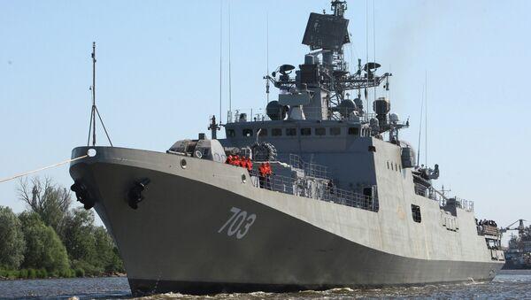 Ходовые испытания фрегата Колчан (Таркаш)