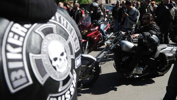 Акция в поддержку задержанных в Ираке российских байкеров