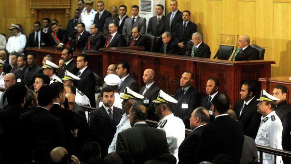 Заседание суда по делу экс-президента Египта Хосни Мубарака