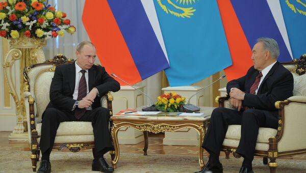Официальный визит президента РФ В.Путина в Казахстан