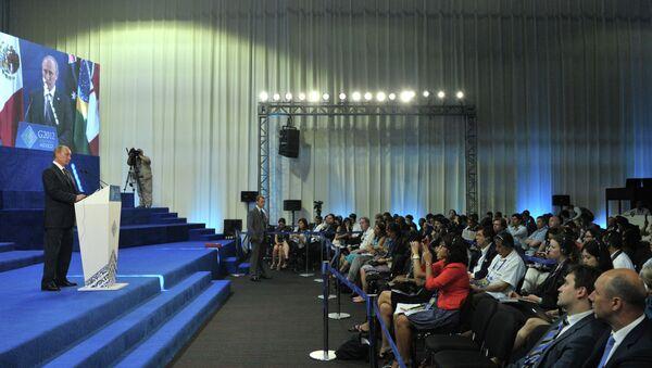 В.Путин на саммите большой двадцатки в мексиканском Лос-Кабосе