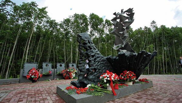 Мемориал памяти жертв крушения самолета Ту-134 под Петрозаводском. Архивное фото