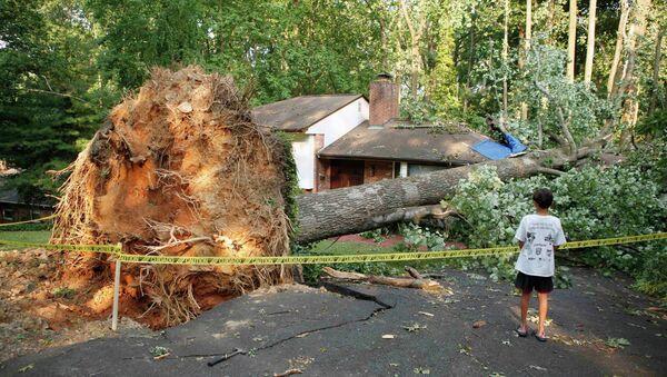 Последствия шторма в США