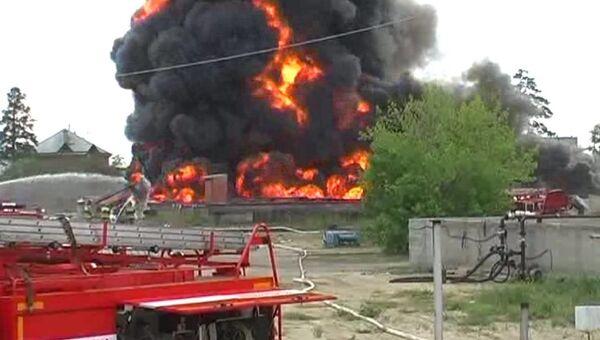 Пожар в Ангарске