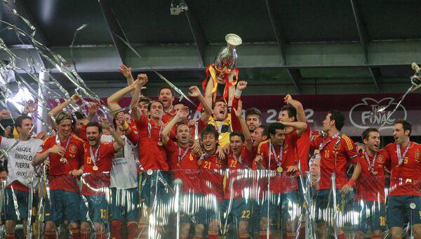 Футбол. Евро-2012. Финальный матч сборных Испании и Италии