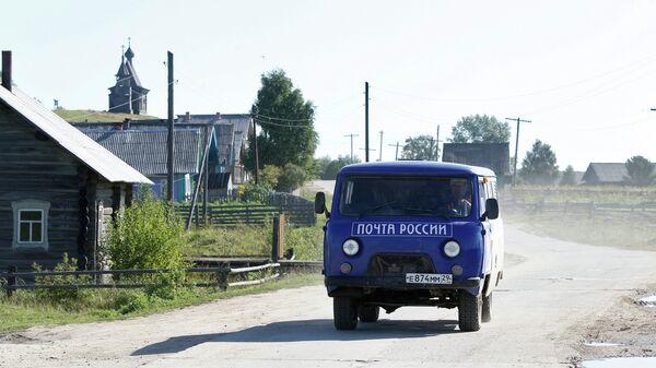 Работа почтальона Почты России в деревне