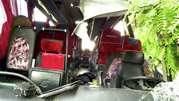 ДТП с участием автобуса с российскими паломниками на Украине