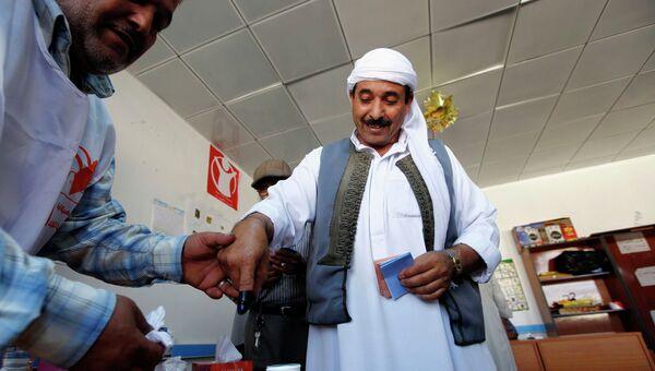 Голосование на парламентских выборах в Ливии