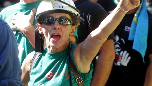 Забастовка шахтеров в Мадриде