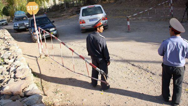 Пост при въезде в Горно-Бадахшанскую автономную область. Архив