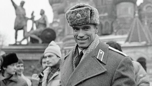 Американский актер и культурист Арнольд Шварценеггер