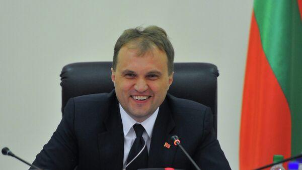 Президент Приднестровской Молдавской Республики Евгений Шевчук. Архивное фото