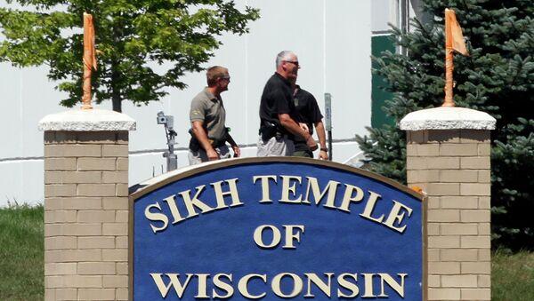 Храм сикхов в штате Висконсин (США), где была открыта стрельба