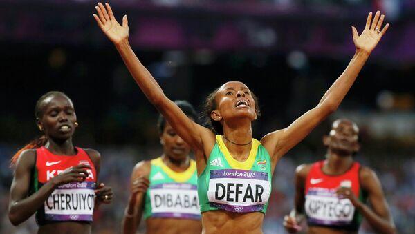 Эфиопская бегунья Месерет Дефар выиграла золотую медаль Олимпиады-2012 в беге на 5000 метров