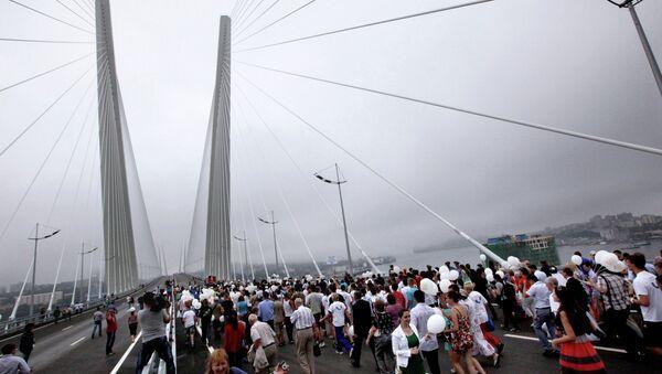Два моста открыли во Владивостоке к саммиту АТЭС