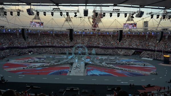 Перед началом церемонии закрытия Олимпиады в Лондоне