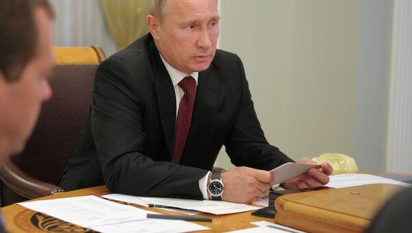 Президент России Владимир Путин . Архив