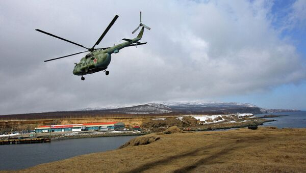 Военный вертолет Ми-8. Архив