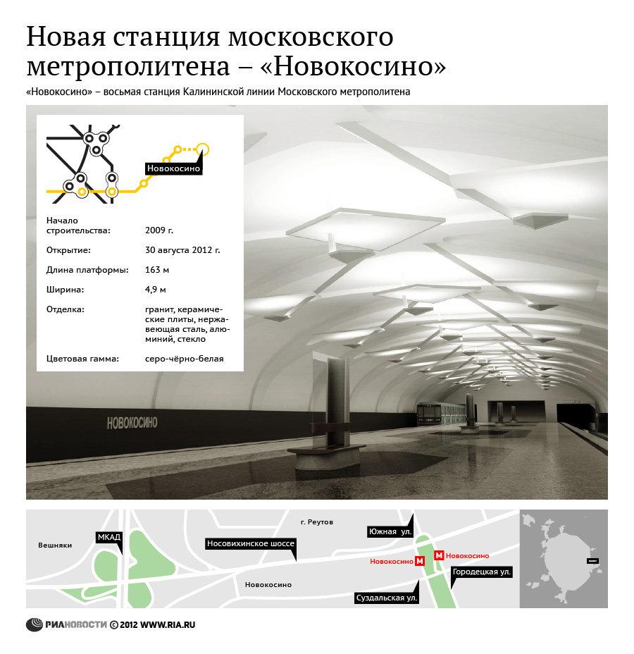 Новая станция московского метрополитена Новокосино