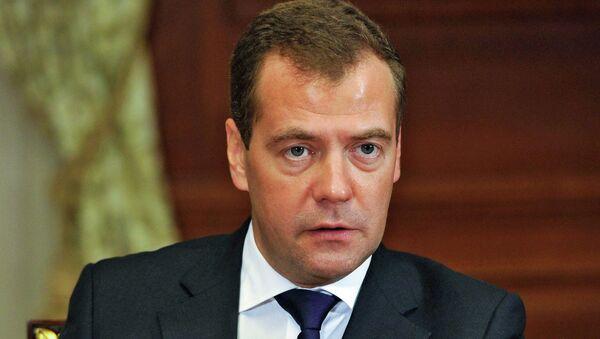 Премьер-министр РФ Д.Медведев встретился с руководством ЕР. Архив