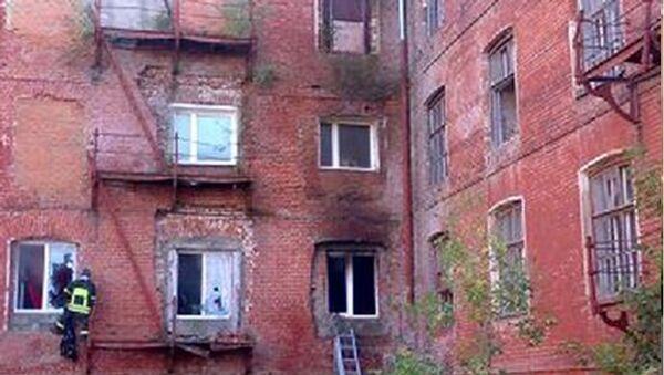 Пожар на швейном предприятии в подмосковном Егорьевске