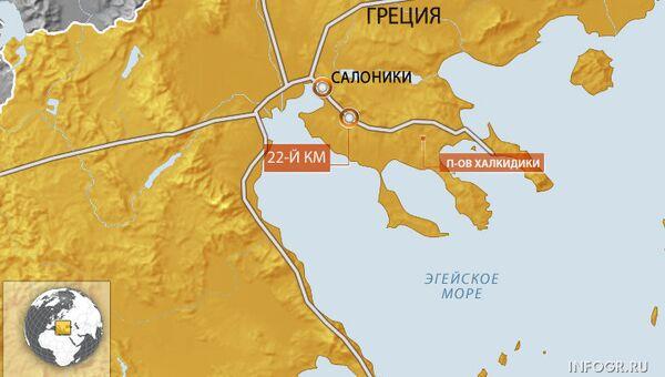ДТП в Греции под Салониками