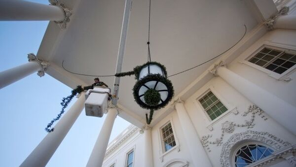 Белый дом - официальная резиденция президентов США. Архив
