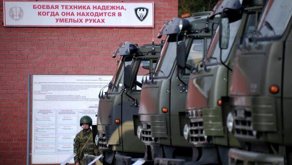 Демонстрация образцов автомобильной техники КАМАЗ. Архивное фото